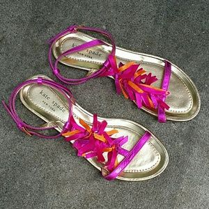 Kate Spade  ankle staple sandals  size 6